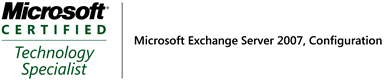 Microsoft Certified Technology Specialist: Microsoft Exchange Server 2007, Configuration